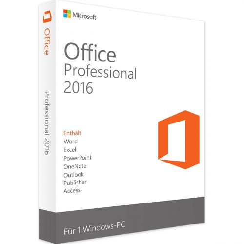 Microsoft Office 2016 Professional 1 PC Download Lizenz