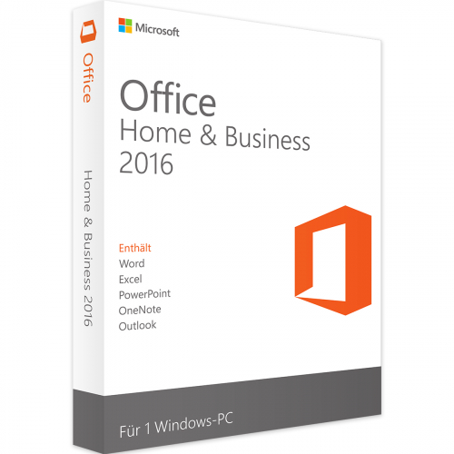 Microsoft Office 2016 Home & Business 1 PC Download Lizenz