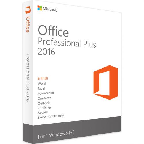 Microsoft Office 2016 Professional Plus 1PC Download Lizenz