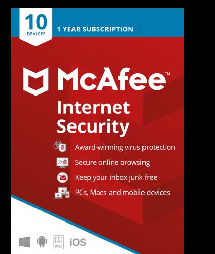 McAfee Internet Security 2021 / 1 Jahr 10 Geräte