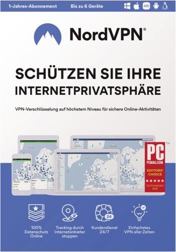 NordVPN Premium (6 Geräte / 1 Jahr)